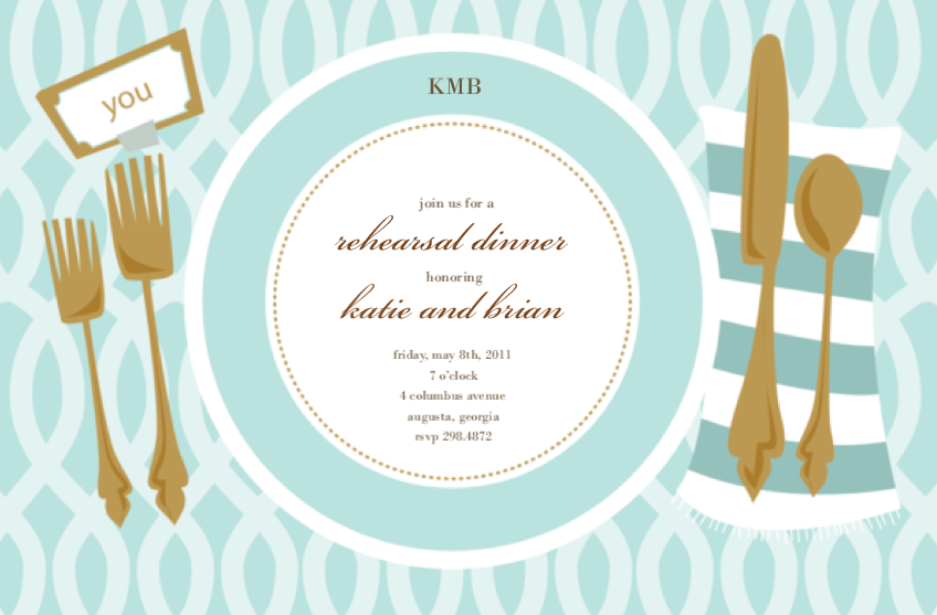 Gold Aqua Placesetting