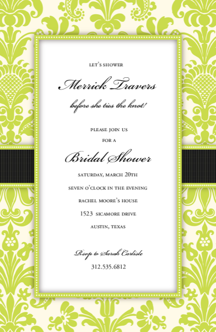 Green Damask Ribbon
