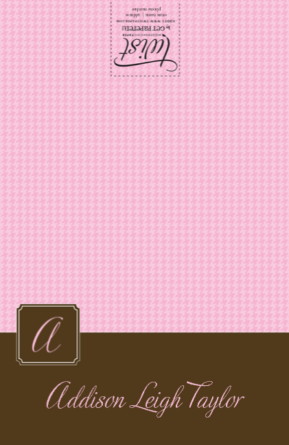 Pink Brown Tiny Houndstooth